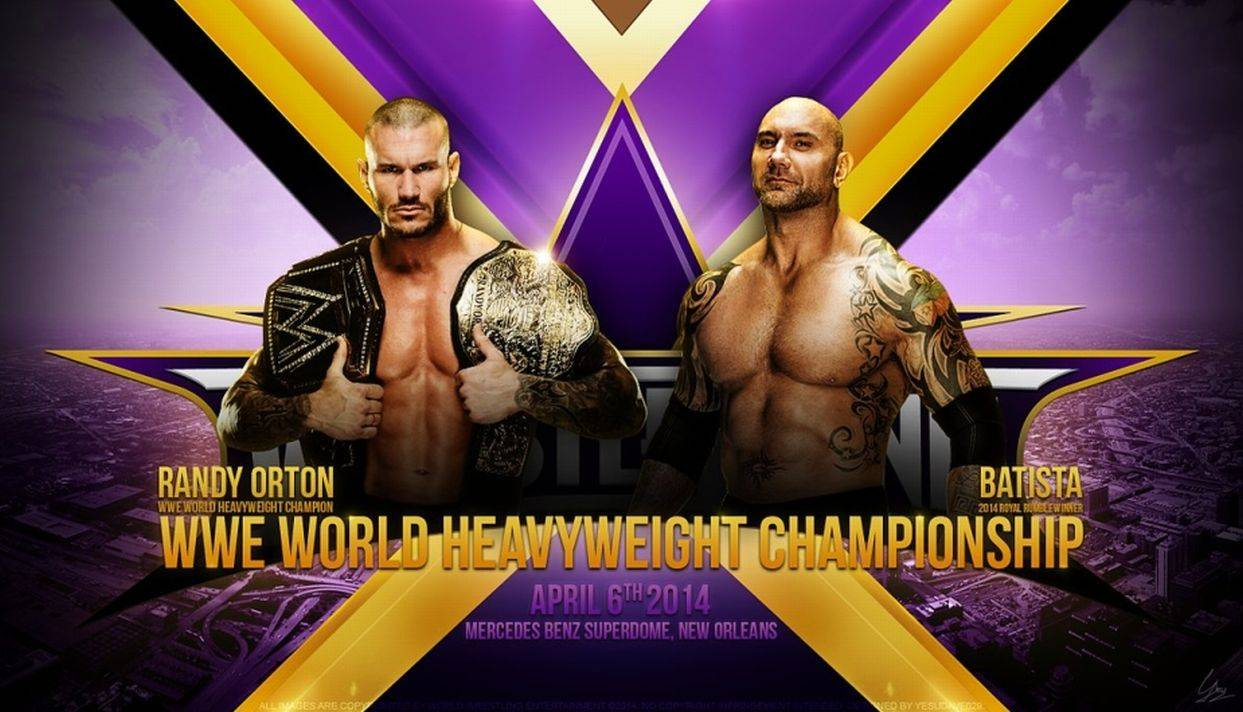 Los protagonistas eran Randy Orton y Batista, pero Daniel Bryan ingresó al evento principal a última hora, quedándose finalmente con la pelea y el título mundial de Peso Pesado de la WWE (Foto: WWE)