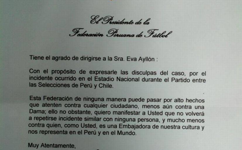 Manuel Burga envió carta de disculpas a Eva Ayllón | Chollywood ...