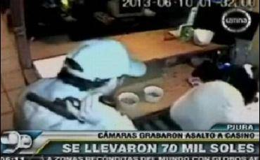 VIDEO: Hampones se llevan S/.70 mil de un casino en Piura