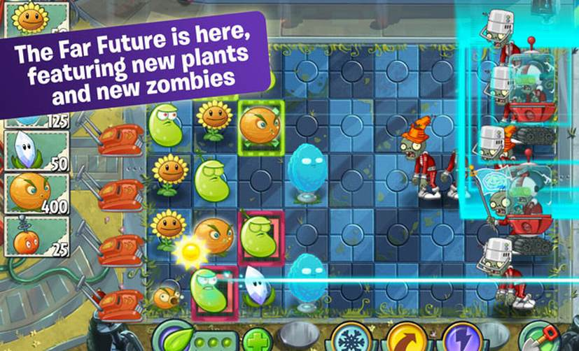 Plants vs Zombies 2' añadió el nuevo mundo 'Futuro lejano ...