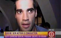 Guty Carrera reapareció en Miami y prefirió no hablar sobre fotos eróticas