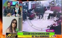 [VIDEO] Así asaltaron el spa de Tula Rodríguez