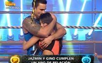 'Esto es guerra': Gino Assereto y Jazmín Pinedo cumplieron un año de relación