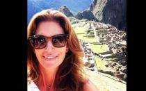 Cindy Crawford y su 'selfie' en Machu Picchu