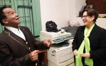 Elecciones 2014: 'Melcochita' promociona candidatura de Susana Villarán