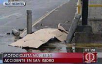 Motociclista murió tras chocar contra poste en San Isidro