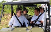 """Ollanta Humala y Juan Manuel Santos se comprometen a """"limpiar"""" Putumayo"""
