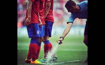 ¿Por qué en la Bundesliga no se usa el aerosol evanescente?