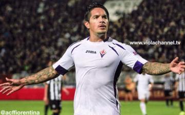Europa League: Vargas dio triunfo a la Fiorentina ante PAOK