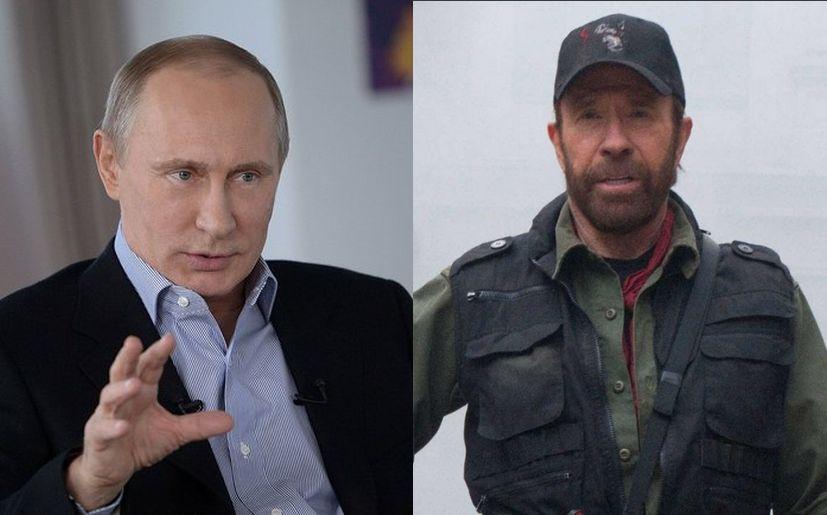 Vladimir Putin vs Chuck Norris: ¿Quién tiene más niveles ...