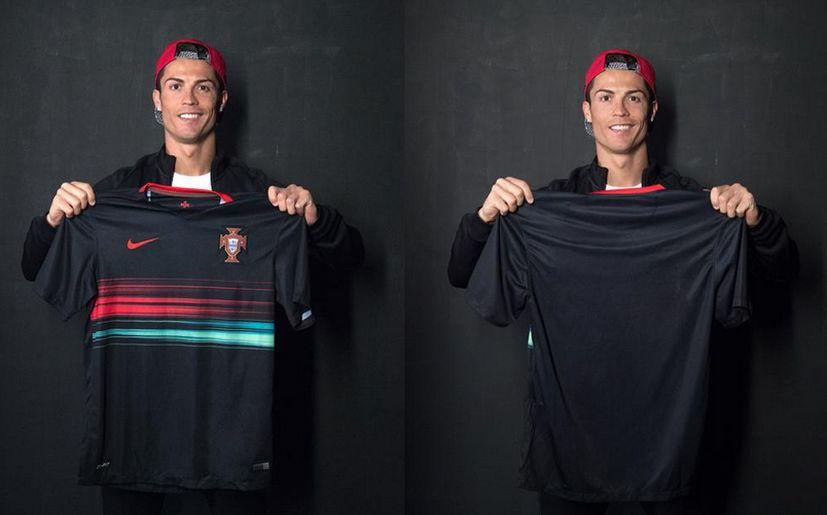 Ronaldo presenta la nueva camiseta de Portugal  fc3542333b47c
