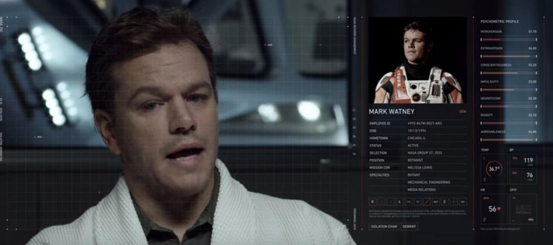 The Martian: Matt Damon y Jessica Chastain en escena de nueva ...