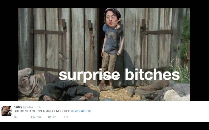 The Walking Dead Glenn regresa a Twitter en memes