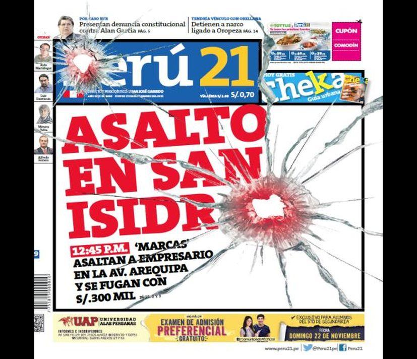 portadas as 237 informan hoy los principales diarios