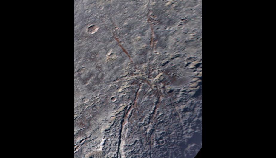 Una araña congelada en Plutón — NASA