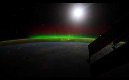 NASA: impresionantes auroras boreales en el Espacio en Ultra HD 4K