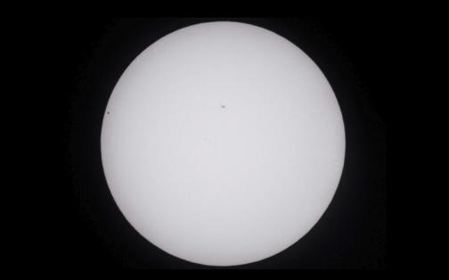 NASA: así se vio el tránsito de Mercurio delante del Sol