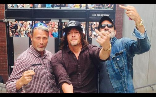 The Walking Dead: así se divirtió Norman Reedus en la Comic-Con 2016