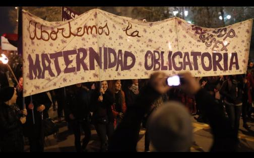 """Chile: así fue la marcha a favor del aborto """"libre, seguro y gratuito"""""""