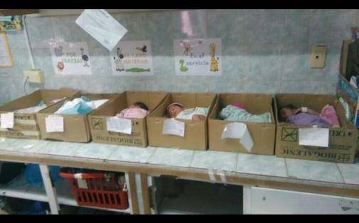 Venezuela: recién nacidos duermen en cajas de cartón por falta de incubadoras en hospital