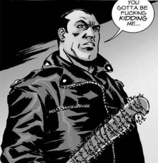 Negan en el cómic de 'The Walking Dead' (Foto: Image Comics)