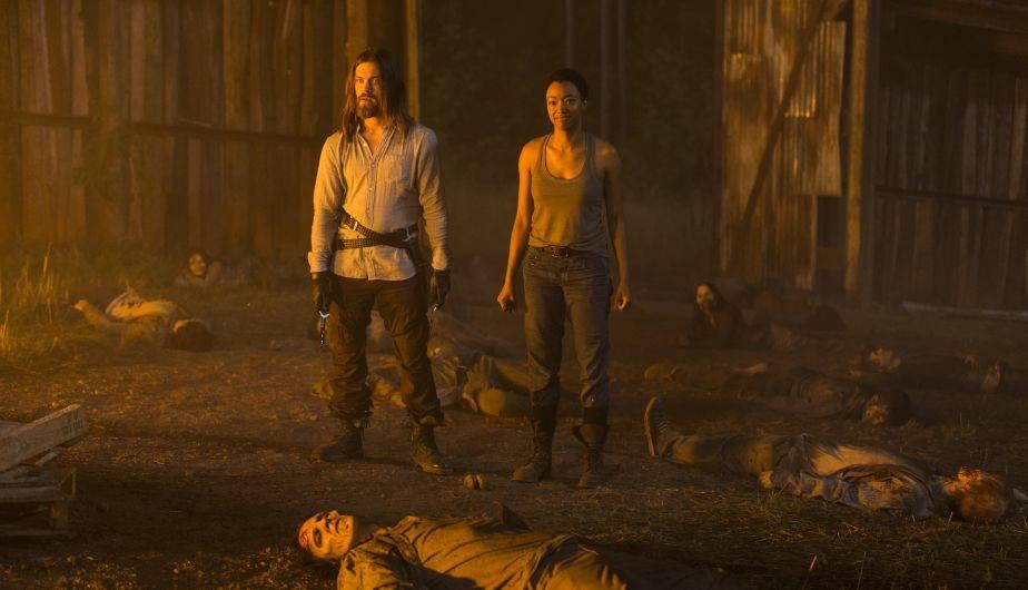 Tom Payne es Jesus y Sonequa Martin-Green es Sasha en 'The Walking Dead' (Foto: AMC)