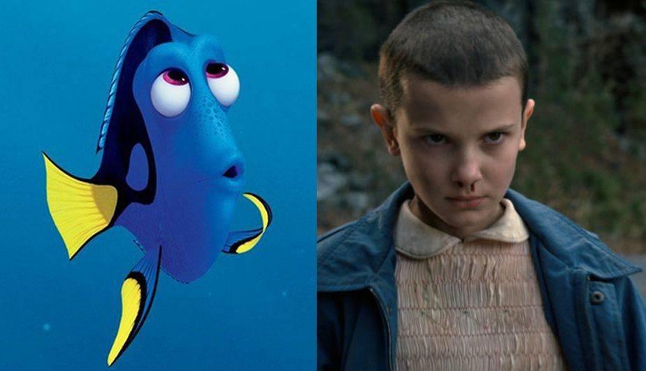 ¿Qué podrían tener en común Stranger Things y Finding Dory? (Foto: Pixar / Netflix)