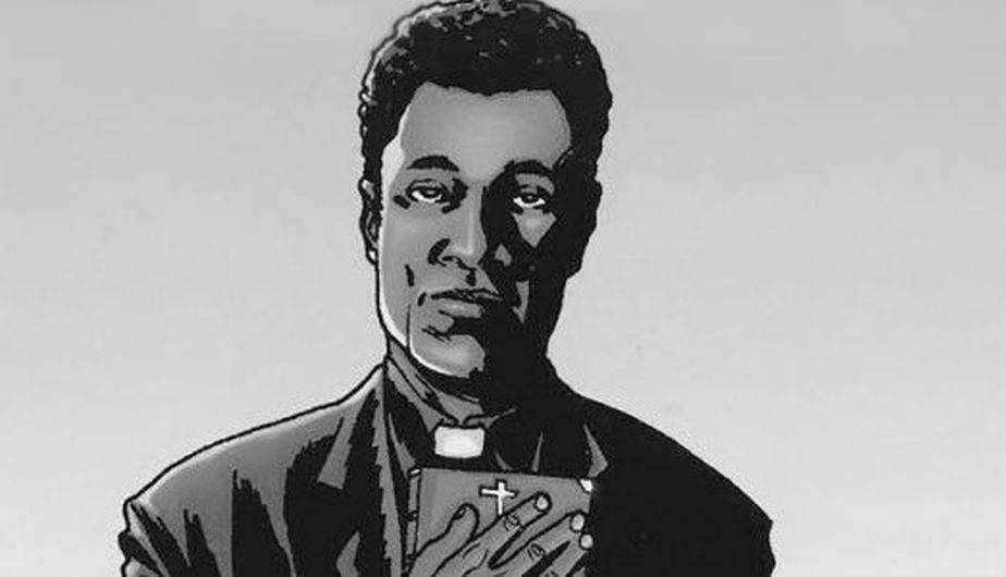 Así luce el padre Gabriel en los cómics de 'The Walking Dead' (Foto: Image Comics)