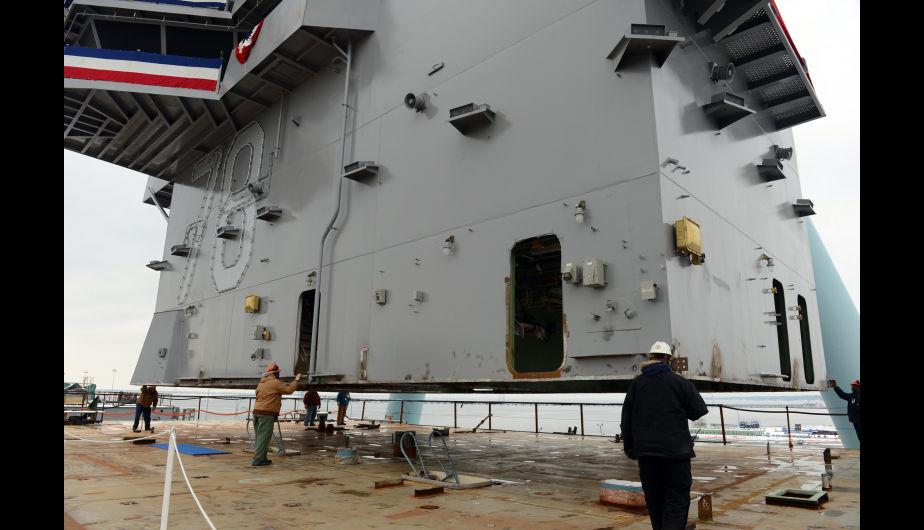 El USS Gerald R. Ford (CVN-78) en construcción. (Foto: US Navy)