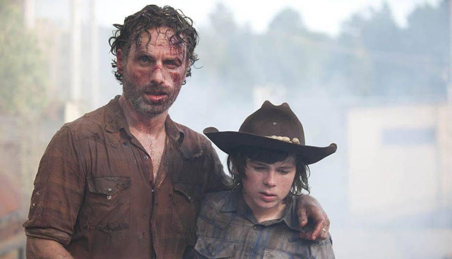 Andrew Lincoln es Rick y Chandler Riggs es Carl en 'The Walking Dead' (Foto: AMC)
