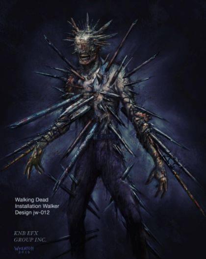 The Walking Dead 7x10: Nicotero muestra el proceso de creación del zombie Winslow con estas fotos