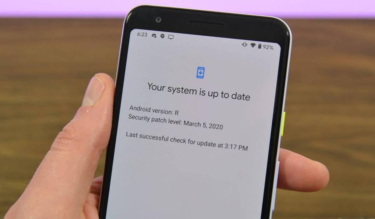 actualización del sistema android