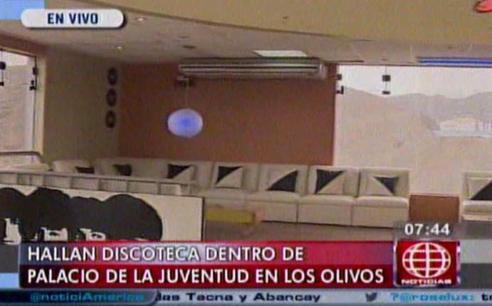 Los olivos discoteca funcionaba en palacio municipal de for Sala 0 palacio de la prensa