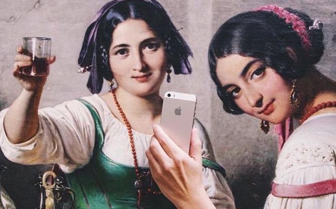 Instagram las obras de arte cl sicas se toman divertidos for Autofoto clasicos
