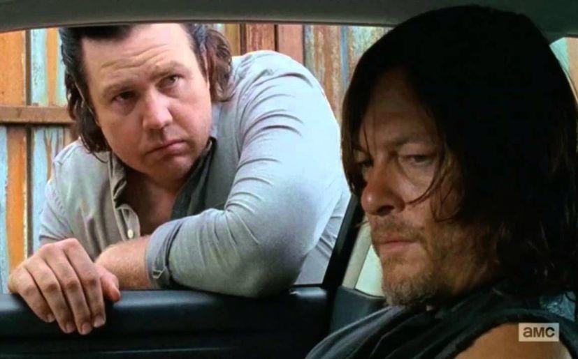 Josh McDermitt es Eugene y Norman Reedus es Daryl en 'The Walking Dead' (Foto: AMC)