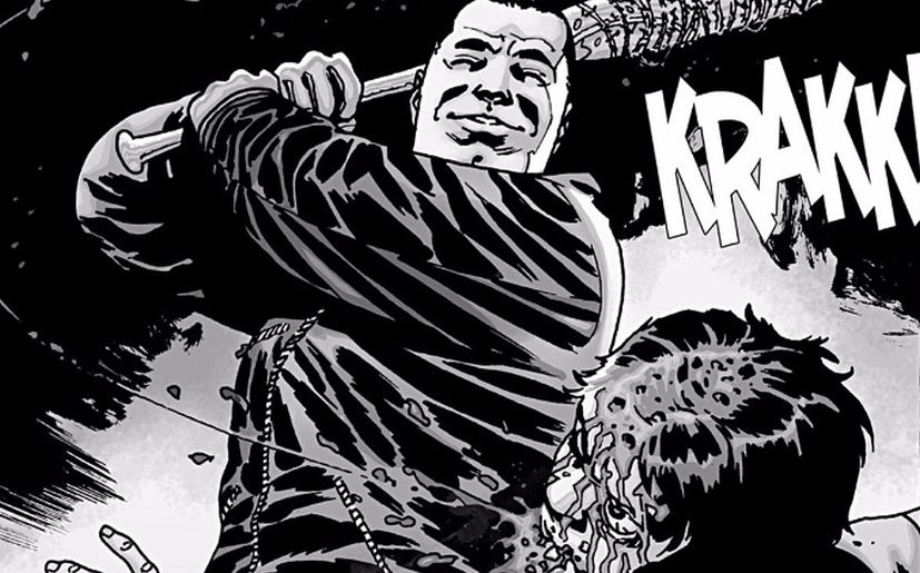 Negan en el cómic de 'The Walking Dead' (Foto: Image Comics)