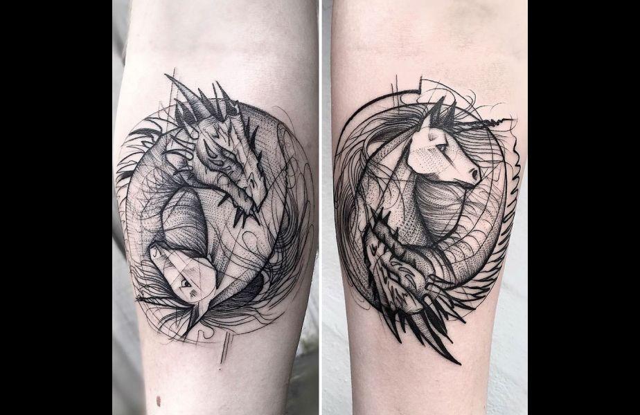 Estos Fantásticos Tatuajes Fueron Hechos Con Líneas Geométricas