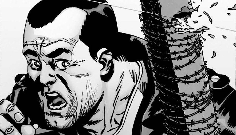 Risultati immagini per The Walking Dead lucille si rompe contro beta nei fumetti