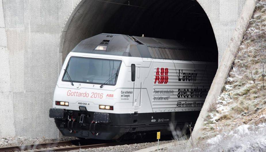 El túnel ferroviario más largo del mundo ya está en funcionamiento (Foto: ABB)