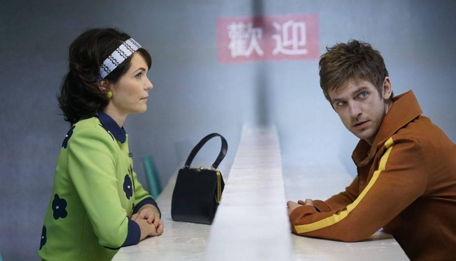 Katie Aselton es Amy y Dan Stevens es David Haller en 'Legion' (Foto: FX)