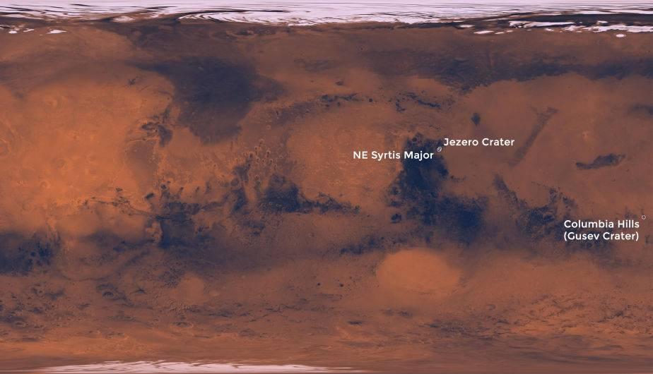 ¿Dónde aterrizará rover de la NASA? (Foto: NASA)