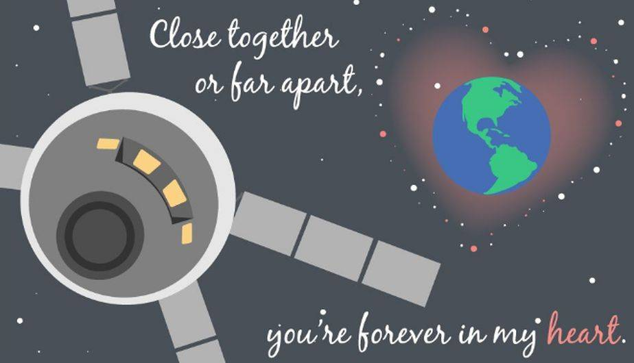 La NASA puso a disposición de sus usuarios estas coloridas tarjetas por el Día de San Valentín (NASA / tumblr)