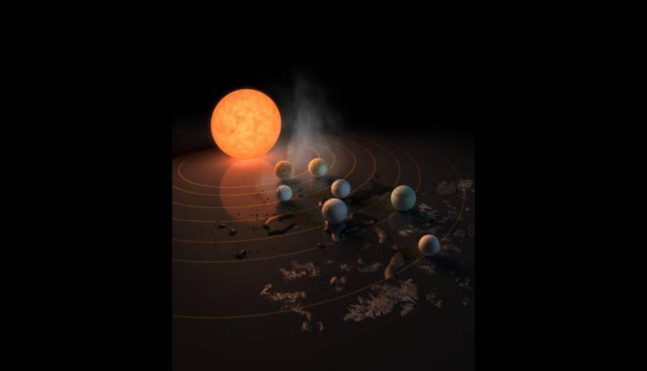La NASA anunció el 22 de febrero el descubrimiento de un nuevo sistema solar con siete planetas del tamaño de la Tierra (NASA)