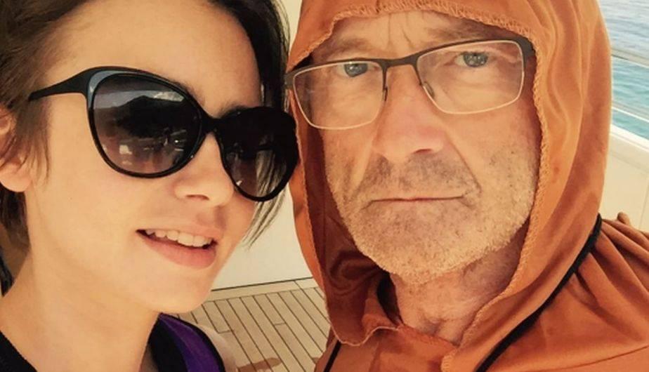 La actriz Lily Collins habla abiertamente en un ejemplar personal sobre la falta que le hizo el famoso artista Phil Collins. (Foto: Instagram)