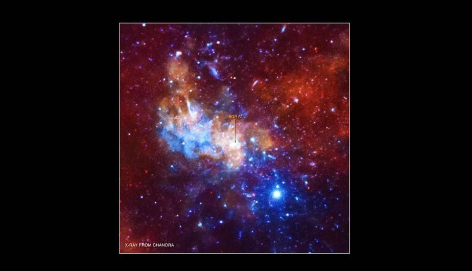 Agujero negro supermasivo en el centro de la Vía Láctea. (Foto: NASA)