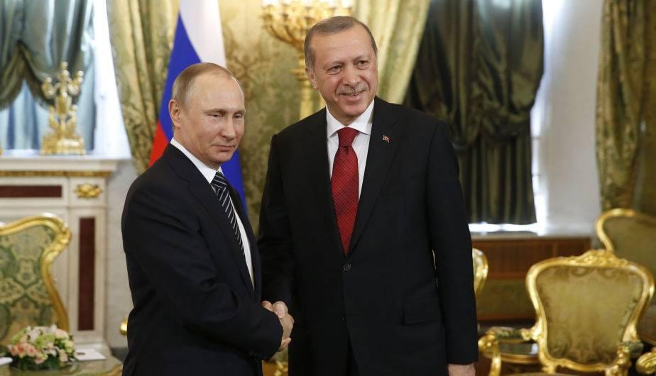 Vladimir Putin y Recep Tayyip Erdogan se reunieron en el Kremlin. (Foto: EFE)