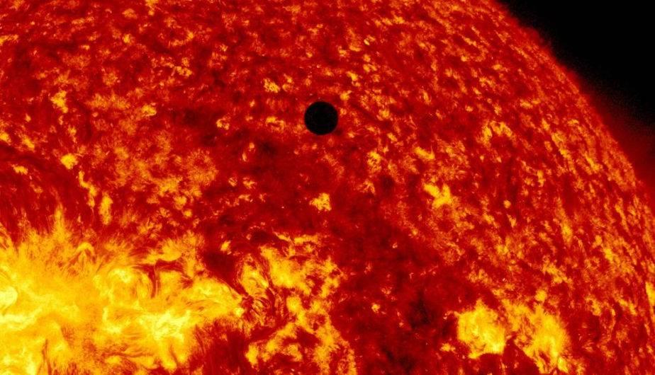 Venus frente al Sol. (Foto: NASA)