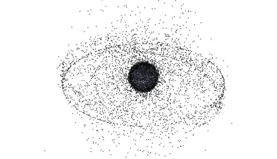 Basura espacial alrededor de la Tierra. (Foto: NASA)