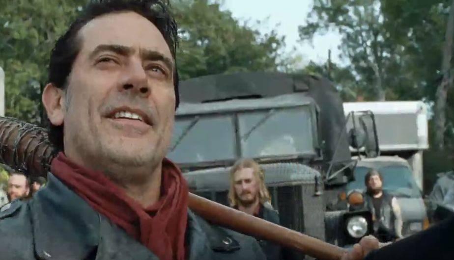 En el último episodio de la temporada 7 de 'The Walking Dead', vimos caer a Negan por primera vez (Foto: The Walking Dead / AMC)