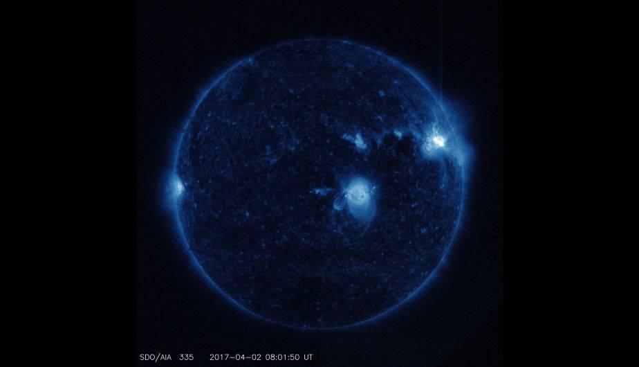 Llamaradas solares captadas por el SDO de la NASA. (Foto: NASA/SDO)